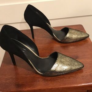 AERIN POINTED TOE SUEDE PUMPS